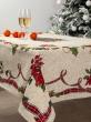 Новогодняя коллекция / Испанская новогодняя коллекция из гобелена - Елочка скатерть 140х260 см