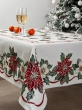 Новогодняя коллекция / Испанская новогодняя коллекция из гобелена - Пуантесия Скатерть 140х180 см 7168