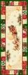 Новогодняя коллекция / Испанская новогодняя коллекция из гобелена - Новогодний пэчворк Салфетка 40х100 см 7437